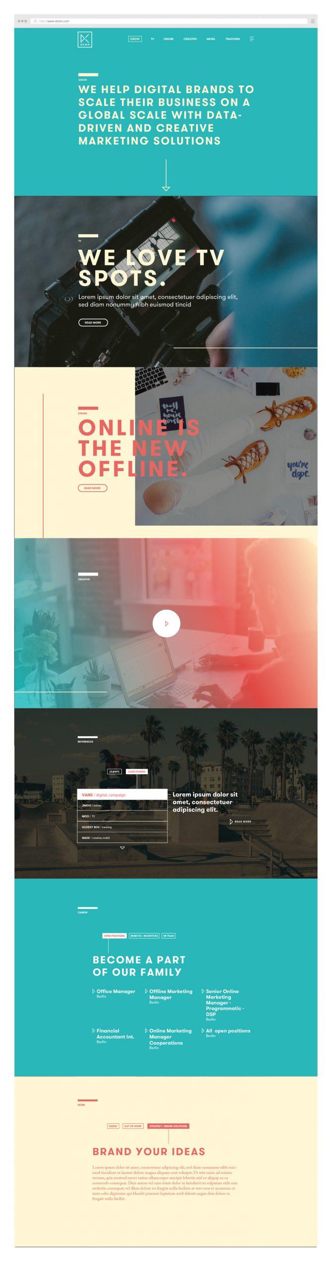 Webdesign – Webseite – DCMN – Konzept – Gesamt 02