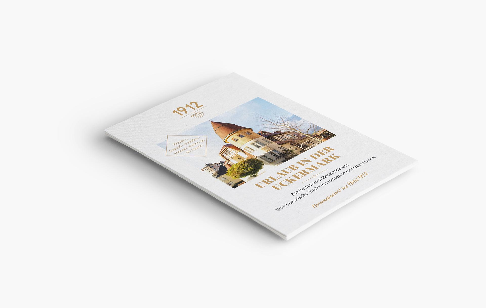 1912 Hotel – Flyer – Geschäftsausstattung