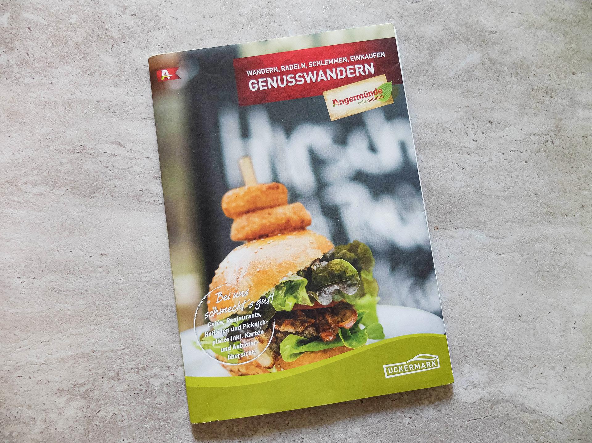 Flyer – Genusswandern Uckermark Frontcover – Tourismusverein Angermünde e.V.