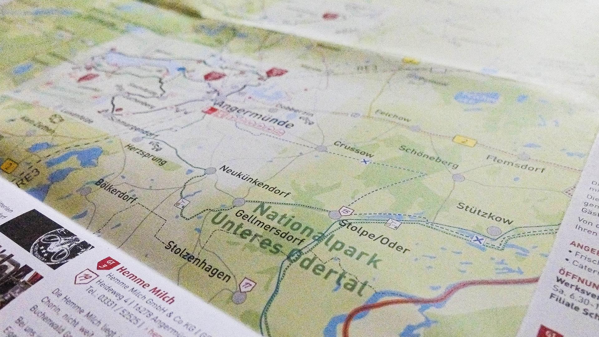 Flyer – Genusswandern Landkarte Angermünde – Tourismusverein Angermünde e.V.