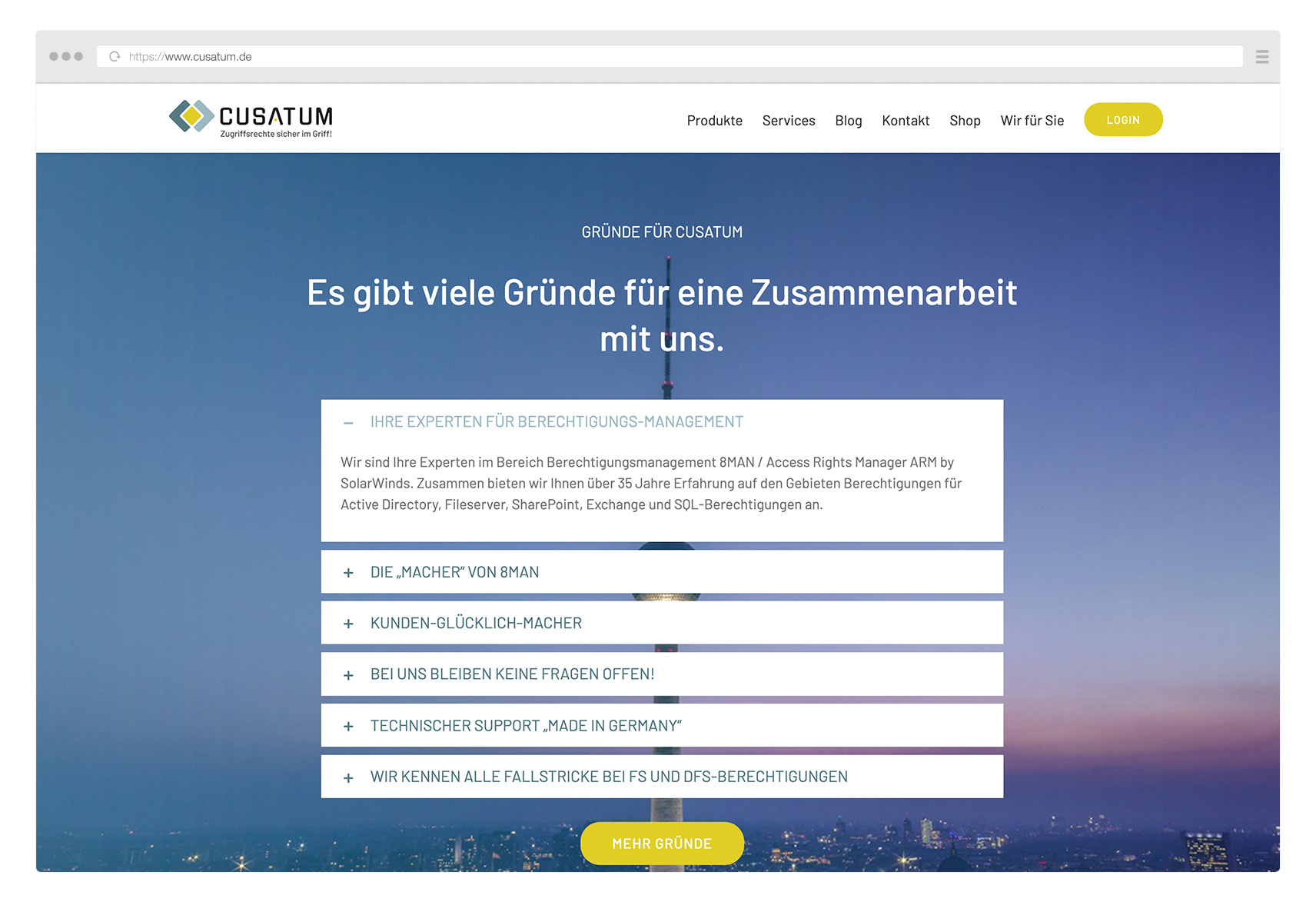 Cusatum_Website_Gruende
