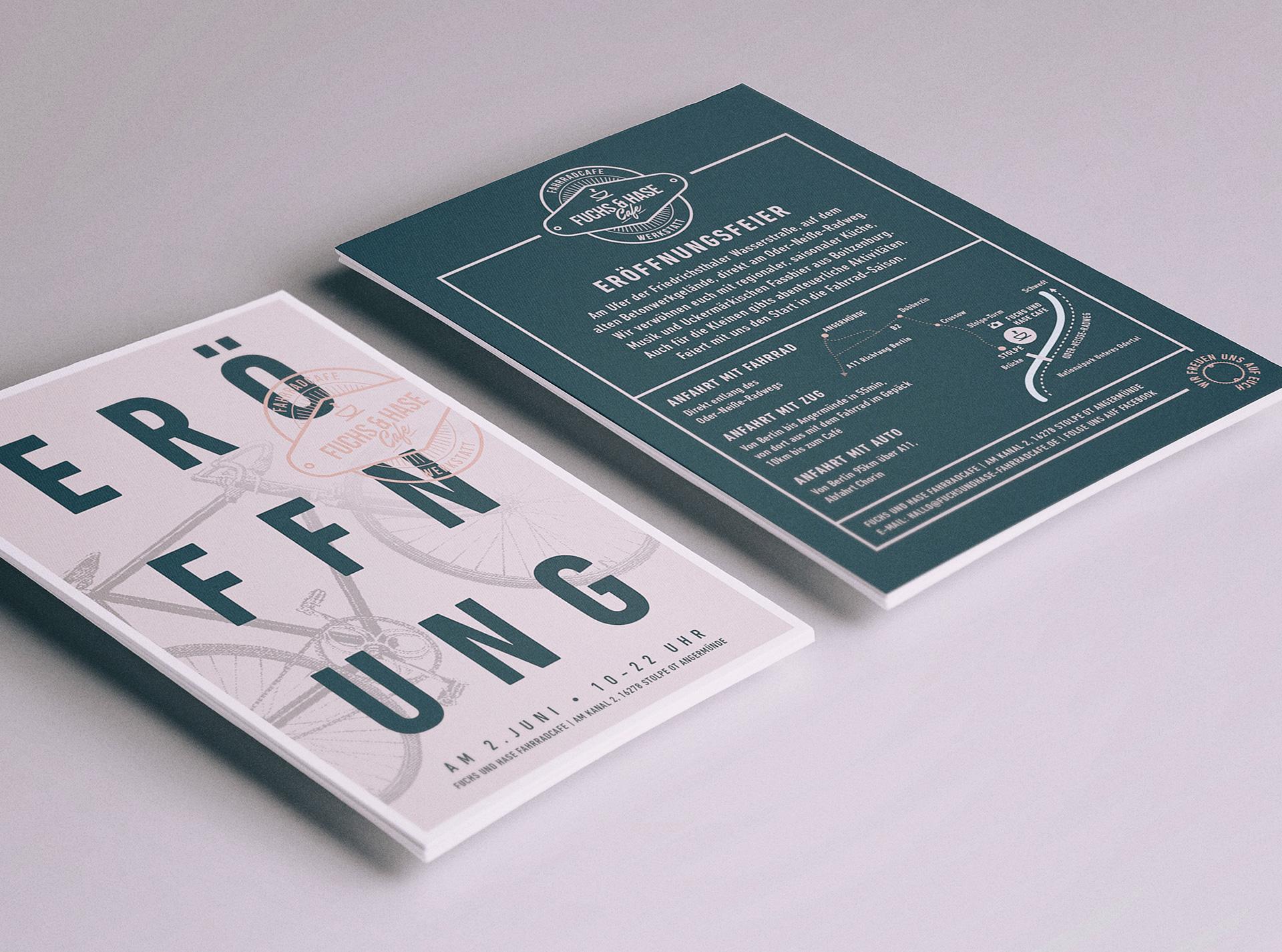 fuchs-und-Hase-Fahrrad-Cafe-Flyerdesign